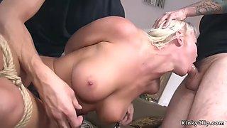 Busty milf cheater bondage gangbanged