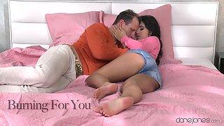 Amazing pornstars Ria, George in Fabulous Romantic, Cumshots porn scene