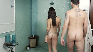 Great erotic experience with brunette babe Lacey Channing