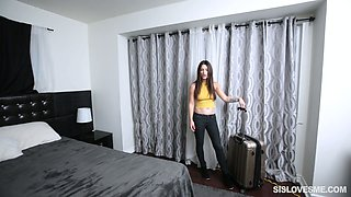 Addicted to sex dude fucks sex-appeal step sister Lacey Channing