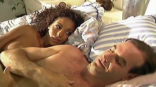 Gorgeous ebony babe with perfect body fucked in her pussy
