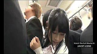 Asian teen schoolgirl fucked on the bus