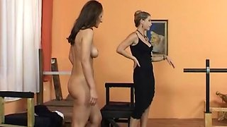Amazing chick likes when a naughty mistress punishes her