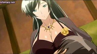 Anime milf with big milky boobs