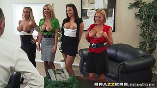 Brazzers - Big Tits at Work - Office 4-Play Christmas Edition scene starring Chanel Preston