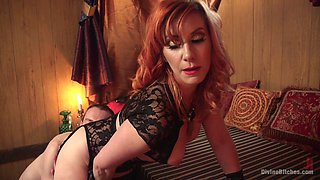 Hot Redhead Dominates A Guy