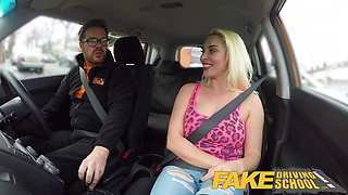 Fake Driving School Busty horny blonde needs cock