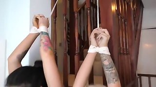 Three girls in bondage