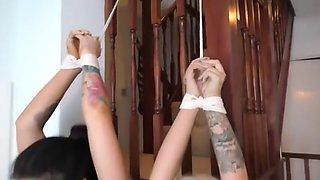 Three girls in bondage