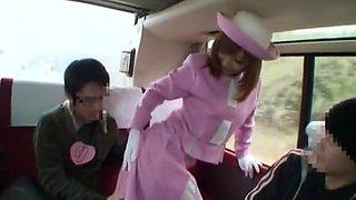 Crazy Japanese slut Riona Suzune in Incredible Bus JAV scene