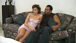 Petite housewife with tiny tits gets her twat pumped full of dark meat