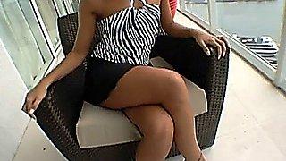 MILF Adriana Deville fucked in the balcony