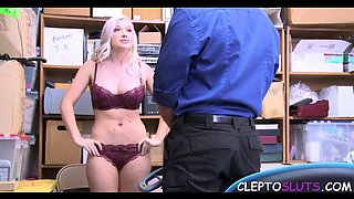 Blondie forced to fuck for her sins jailer