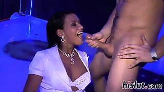 Foxy babes make big shafts cum hard