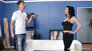 Veronica Avluv is a babe in red lingerie who loves being fucked