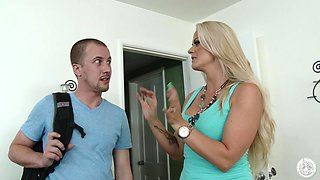 Holly Sucks The Young Neighbor