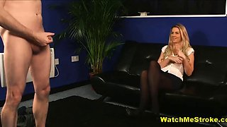 Cfnm interview jerk off for milf