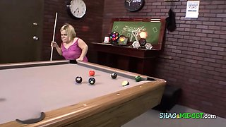 Midget slutty while playing pool