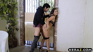Sexy cheating wife is horny and fucks her neighbor