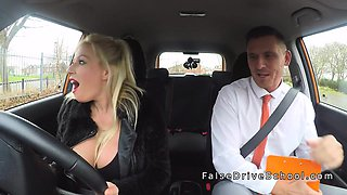 Married examiner fucks monster tits blonde