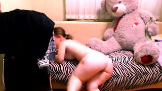 Russian Midget on webcam
