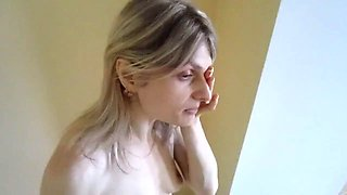Russian mature blonde mother sucking and fucking