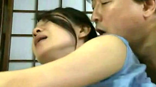 Adopted Son Abuse and Fucks His Mom Moe Osawa