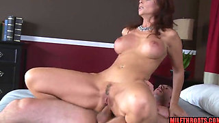 Brunette milf anal and facial