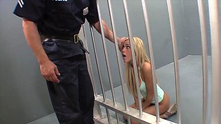 Inprisoned slut fucked hard and made to swallow