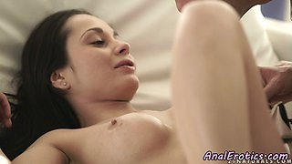 Assfucked beauty with faketits riding dick
