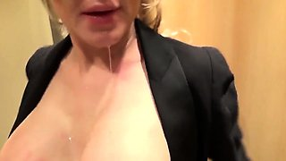 Whore Secretary in Elevator