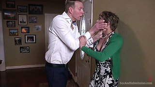 Submissive handcuffed Tiffany Watson gets hammered really hard doggy