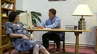Pale skin redhead German milf housewife loves fisting