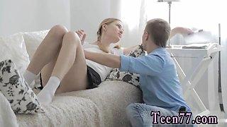 Blonde squirt machine and teen fucks teacher Eva banging her