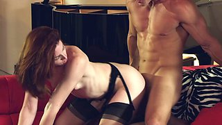 Hot blowjob scene with a naughty porn hottie Stoya in nasty fuck action