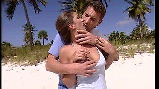 Horny Couple Having Sex At The Beach