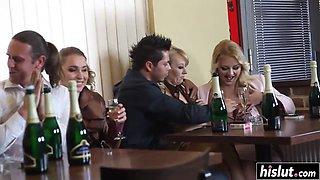 Drunk sluts want to fuck hard