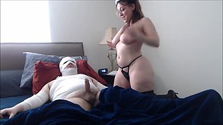 Horny mommy and not her son