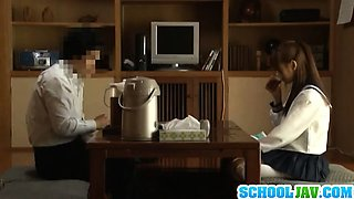 Voyeur Cam Captures Chika Eiro Having Sex In Her Schoolgirl