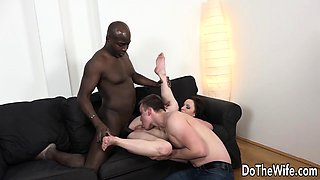 Interracial anal creampie housewife
