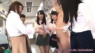 Asian schoolgirls train - Watch Part2 on link below