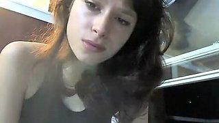 Hottest amateur Smoking, Brunette sex clip
