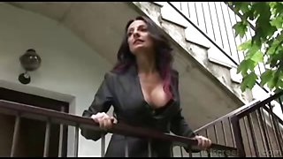 Italian Horny Brunette Mother