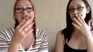 Sandy Yardish age 18 and my mom Annabelle Yardish smoking ou