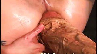 Huge dildo penetrations insert