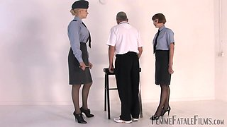 Mistress Eleise de Lacy loves to punish her horny friend with spanking