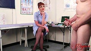 redhead nurse zoe page - penis measuring - ladyvoyeur