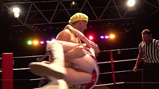 FAKEhub Originals Teen Machine Vs Bulldozer in wild and crazy wrestling