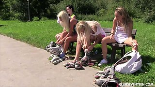 Sporty Sabrina L turns roller-skating into such a good lesbian intercourse