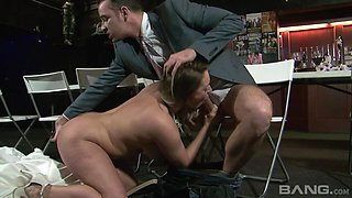 Lusty cheating bride Victoria Summers enjoying a stiff wiener